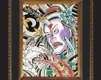 5x7 Geisha Sword Print by Tyler Weisenberger
