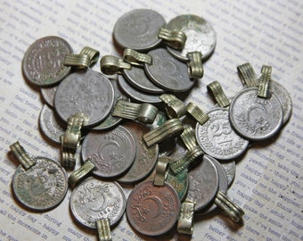 Foreign COINS (6) with Soldered Hanger- Recycled Money- Coin Jewelry