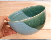 Zen Style Beautiful Turquoise/Green Bowl/Planter by misunrie