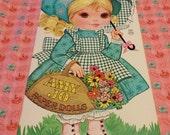 SALE Vintage Amy Jo Paper Doll Book Uncut 1970's