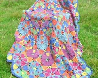 Kaleidoscope -  Crochet Afghan/Blanket Booklet - PDF CROCHET PATTERN