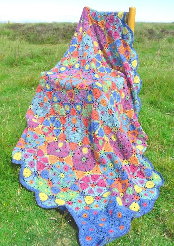 Kaleidoscope Crochet Afghan/Blanket Booklet PDF CROCHET