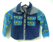 Japanese Designer Vintage Pez Dispenser Kids Jean Jacket