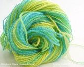Fractal Hand Spun Yarn, Fractal Hand Spun Wool Yarn, DK Weight Hand Spun Yarn, Storybook Ukraina Two Ply Fractal Hand Spun 72 yards .8 ozs