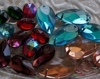 ENID COLLINS 20 Authentic, New Old Stock, Czech Crystal Glass Beads