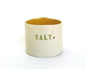 whimsical hand built  porcelain salt  cellar ...  container ...  vessel  ...  pig