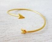 Open Hunter's Arrow Bracelet, stackable bracelet, simple bracelet, minimalistic jewelry
