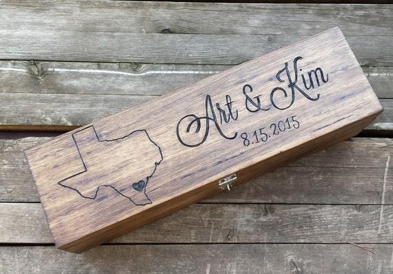 Wedding Gift Letter Box : state wine box, wedding wine box ceremony, love letter box, memory box ...