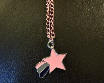 pink shooting star necklace