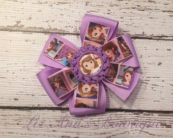 Sofia The First pinwheel bow hairclip