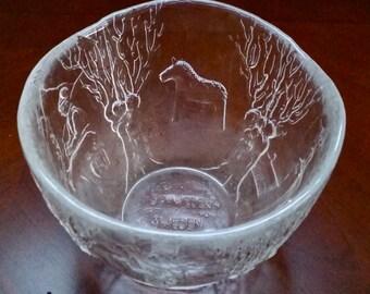 Swedish Folk Art Glass Bowl - Sweden, Schweden