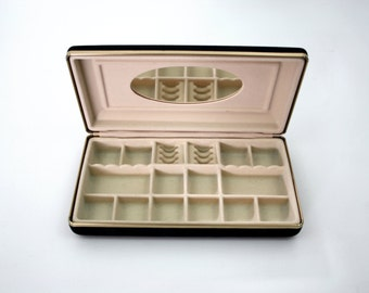 Black Velvet Vintage Jewelry Box