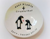 Custom godmother gift ring holder godparent thank you gift handmade by Cathie Carlson