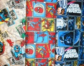 SUPER HEROS #19 fabrics, sold individually,not as a group, sold by the Half Yard, please see body of listing
