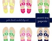 Palm Beach Sandal Clip Art (Instant Download)
