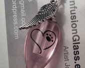 Fill Yourself Cremation Ash Urn Vile Heart Paw Print Pet Memorial Necklace