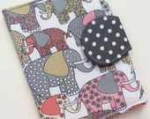 Elephant Nook Cover, LAST ONE, Kindle Paperwhite Case, Kobo Glo HD Case, Nook Glowlight, all sizes, Elephant Beauty eReader Case