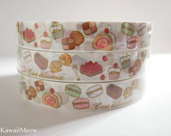 Kawaii Deco Tape - Sweets Time 1 PC / 1.5cm wide x 25m (0.7in x 27 yards)