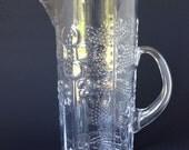 Vintage Oiva Toikka Nuutajarvi Iittala Finland Flora Pitcher, 1960's Glass