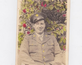 1930-40s picture post card soldier in uniform