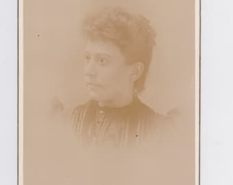 1800s vintage cabinet photo. of a women  from W. Va.