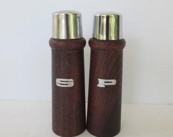 Modern Wood Salt and Pepper Shakers