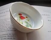 Vintage Small Strawberry Bowl * Strawberries * Vtg Porcelain * gift / trinket / bowl