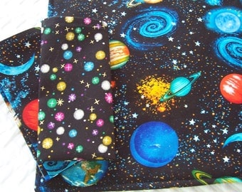 Kid's Lunchbox Set, Planets, Placemat and Napkin Set, Boys Placemat, Fabric Placemat, Cloth Placemat