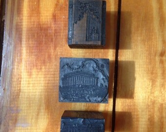 Letterpress printers blocks wood metal historic buildings