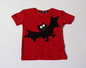 baby halloween t-shirt, Bosworth The Bat, babies bat t shirt, modern baby clothes, bat tee, modern baby clothes, baby halloween shirt