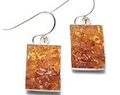 Mosaic Jewelry - Amber Drop Earrings