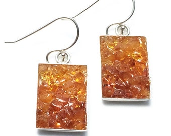 Mosaic Jewelry - Amber Drop Earrings