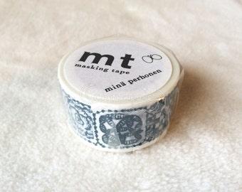 SALE! mt x mina perhonen Washi Masking Tape - mt 2015 Summer - Forest Tile Blue - Artist Series