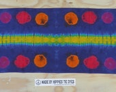 Kaleidoscope Horizon Tie Dye Shibori Bandanna / Scarf / Tapestry (15 x 60 Inches) (One of a Kind)