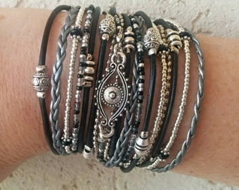 Evil Eye Bracelet - Wrap Bracelets for Women - Wrap Bracelet - Multistrand Leather Bracelet - Evil Eye Jewelry - Best Selling Item