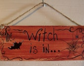 The witch is in, Door Hanger, Halloween crafts, Ornaments