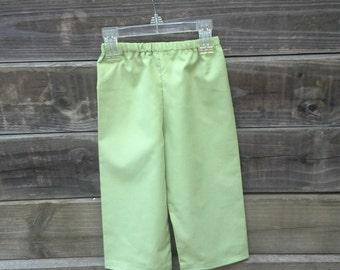Boys Pants in Leaf Green Corduroy