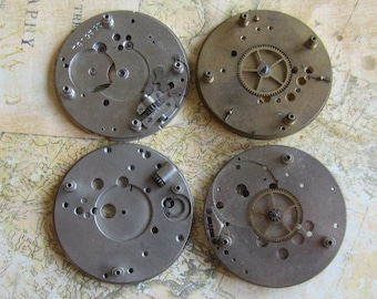 Vintage Antique Watch movements parts Steampunk - Scrapbooking k8