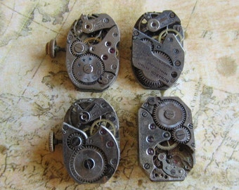 Featured - Steampunk supplies - Watch movements - Vintage Antique Watch movements Steampunk - Scrapbook z8