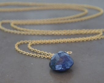 Sapphire Necklace September Birthstone Gold Chain