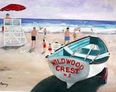 The Crest in Wildwood   Original 11 x 14 watercolor