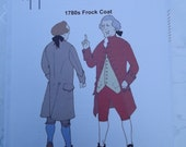1780's Frock Coat  Sewing Pattern Reconstructing History Clothing Pattern   Rh 803