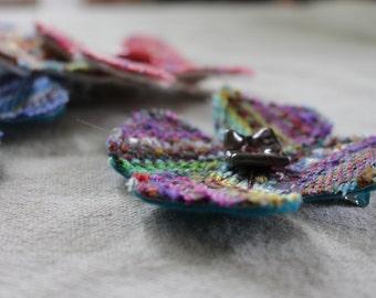 Handwoven Hair Flower - Purple Rain