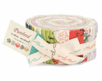 SUMMER SALE - Purebred - Jelly Roll - by Erin Michael for Moda Fabrics