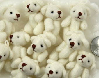 Mini Bear - 38mm Cute Mini Teddy Bear Fuzzy Soft Plush Bears - 3 pc set