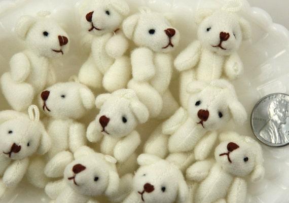 Mini Bear 38mm Cute Mini Teddy Bear Fuzzy Soft Plush Bears 3 Pc Set From Delishbeads On Etsy