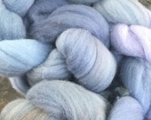 Hand painted spinning fiber - Merino wool roving - Moody blues - 4.0 ounces