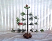 Handmade Primitive Table Top Old Fashion Southern Pine Tree Christmas Decoration