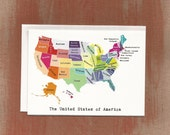 The United States of America in a Rainbow of Color: Boxed Notes / Art Print