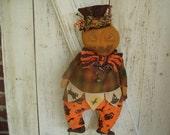 Pumpkin Man, Halloween Doll, Fall Doll, Dolls, Primitive, Rustic, Ofg, Faap, Hafair, Dub, FFFOFG